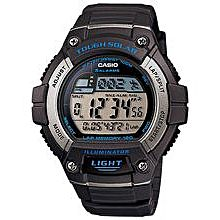 W-S220-8AVDF Resin Watch - Black