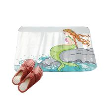 TA Painted Mermaid Front Mats Door Mat Floor Carpet for Living Room Polyester-multi-color mixed