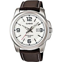MTP-1314L-7A Leather Watch - Brown