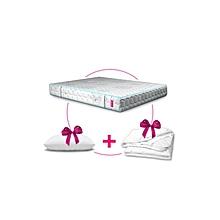 مرتبة سرير متوسطة + واقى مرتبة هدية + وسادة هدية