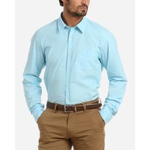 Solid Casual Long Sleeves Shirt - Baby Blue