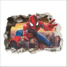 3D spiderman Wall Sticker-Multi-colors