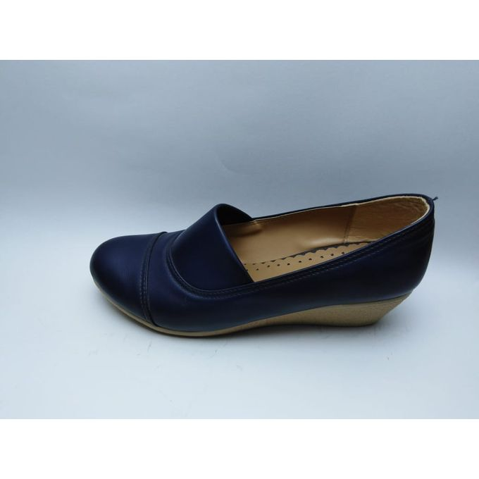 Navy Blue Slip On Shoes Womens