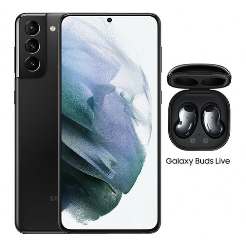 Galaxy S21+ - 6.7-inch 256GB/8GB Dual SIM 5G Mobile Phone - Phantom Black + Galaxy Buds Live + VF Cashback