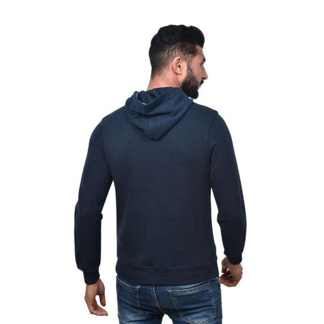 product_image_name-Town Team-Casual Plain Hooded Sweat shirt - BLUE-3