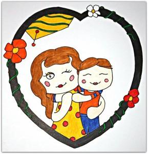 Femme et enfant By Erika