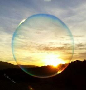 anonymat - bulle - coucher de soleil