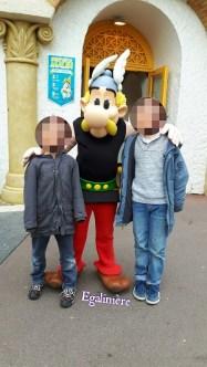Parc Astérix - photo avec Asterix