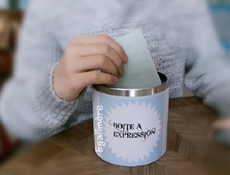 Glisser un message dans la boîte à expression
