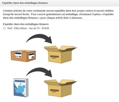 Commande sur Amazon avec emballage