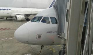 Cokpit de l'avion pour Athènes