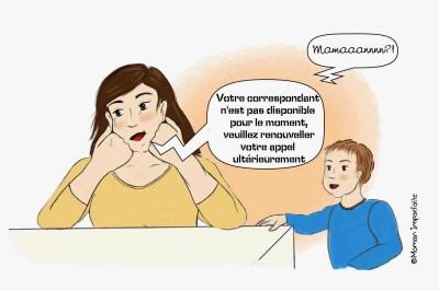 épuisement maternel illustration Môman Imparfaite