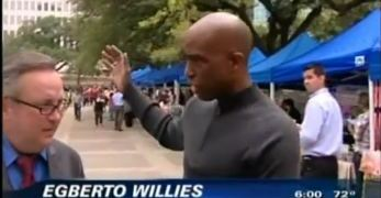 Egberto Willies' Interview With KHOU on Tea Party Activist Assaulting Speaker At Democratic Rally