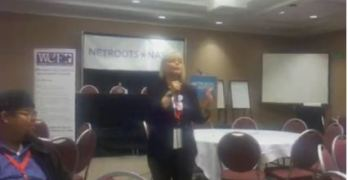 """Women's Campaign Forum President Siobhan """"Sam"""" Bennett At Netroots Nation On Electing Women"""