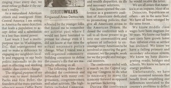 Kingwood Observer Article (2011-10-19) We have to Demand The American Dream