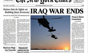 The End Of The Iraq War–Promised Kept–Rebuild America First