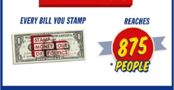 Move To Amend & Ben Cohen, of Ben & Jerry's Partners & launches dollar-stamping campaign