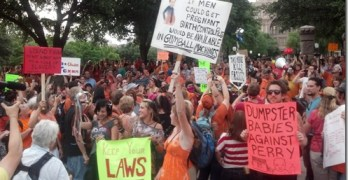 Pro-choice Rally Against Anti-choice protestors at Texas Capitol