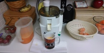 Making Tangerine Juice And A Tangerine Smoothie