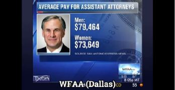 Greg Abbott Gets Brutal Statewide Coverage on Equal Pay Disaster