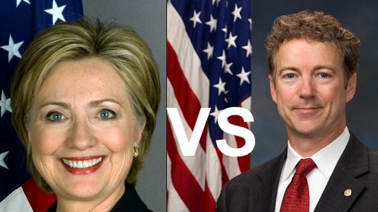 Hillary Clinton vs Rand Paul