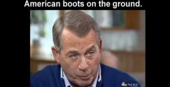 John Boehner Boots on the Ground