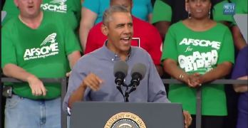 President Obama Milwaukee Wisconsin Laborfest