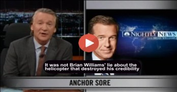 Bill Maher slams Brian Williams and the evening news harshly (VIDEO)