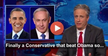 Jon Stewart points out a very bad lesson learned from Netanyahu's win