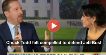 Chuck Todd displays Right bias as he becomes Jeb Bush's apologist