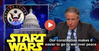Jon Stewart: Constitution makes it easier to make war than peace (VIDEO)