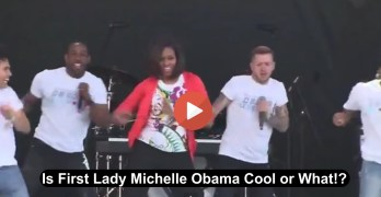 First Lady Michelle Obama dancing to Uptown Funk at Easter Egg Roll at White House  (VIDEO)