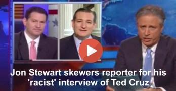 Jon Stewart skewers Mark Halperin for racist Ted Cruz interview