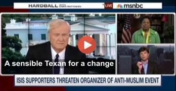 This Congresswoman & Terrorism Expert on Chris Matthews got it right