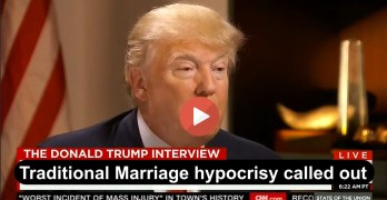 Donald Trump called out on Traditional Marriage stance hypocrisy given his 3 marriages