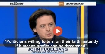 John Fugelsang slams Rick Santorum for climate change denial for profit