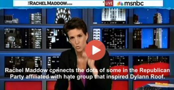 Rachel Maddow slams Republiacans for their associations with racist group that inspirred AME Church Massacre in Charleston South Carolina