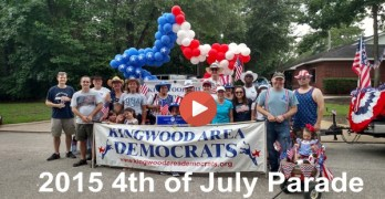 Kingwood Area Democrats in 2015 4th of July Parade