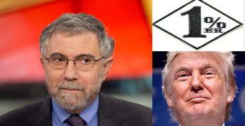 Donald Trump Paul Krugman one percenter