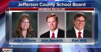 School Board recalled Colorado Jefferson County Right Wing Progressives