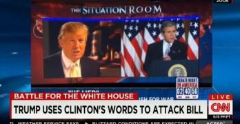 Donald Trump defends Bill Clinton as he attacks George Bush in 2008