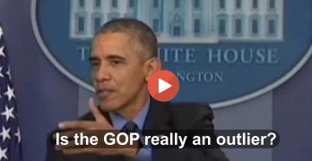 President Obama tells GOP an inconvenient truth on their climate change stance at press conference