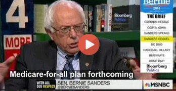 Bernie Sanders Medicare for all single payer