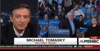 Bernie Sanders' 2016 election candidacy dismissed by smug journalist.