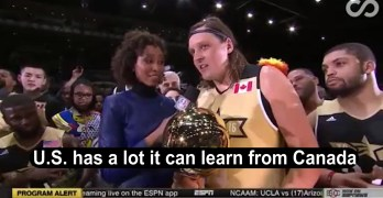 ESPN cutoff MVP of celebrity NBA game for saying U.S. can learn from Canada