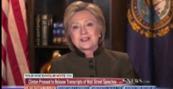 Hillary Clinton Wall Street Goldman Sachs Speeches
