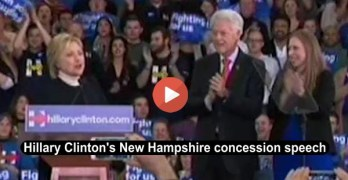Hillary Clinton's New Hampshire concession speech