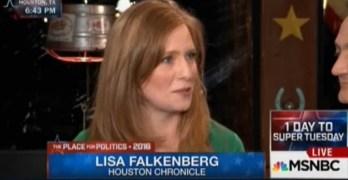 Houston Chronicle Pulitzer winning journalist Lisa Falkenberg