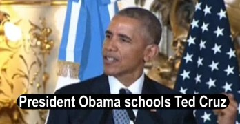 President Obama schools Ted Cruz