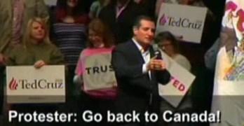 Ted Cruz Heckler - Go Back To Canada
